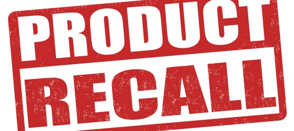 product recall rubber stamp