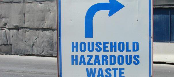 Household Hazardous Waste Sign