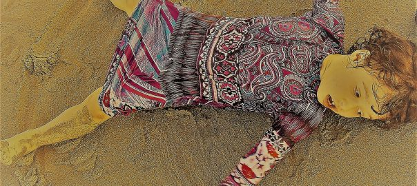 child on sand