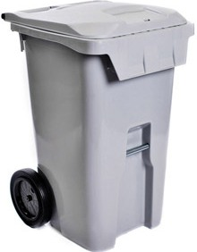 A large locking paper collection cart for paper shredding